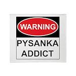 WARNING Pysanka Addict Throw Blanket