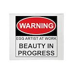 WARNING Artist @ Work Throw Blanket