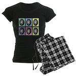 Pop Art Pysanka Women's Dark Pajamas