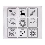 Pysanka Symbols Throw Blanket