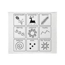 Pysanka Symbols Throw Blanket
