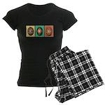 Eggs in a Row Women's Dark Pajamas