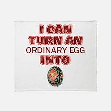 Ordinary Egg into Pysanka Throw Blanket