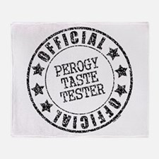 Perogy Tester Throw Blanket