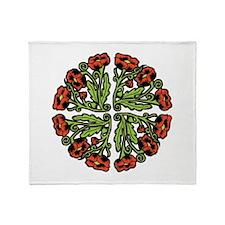 Ukrainian Poppies Throw Blanket