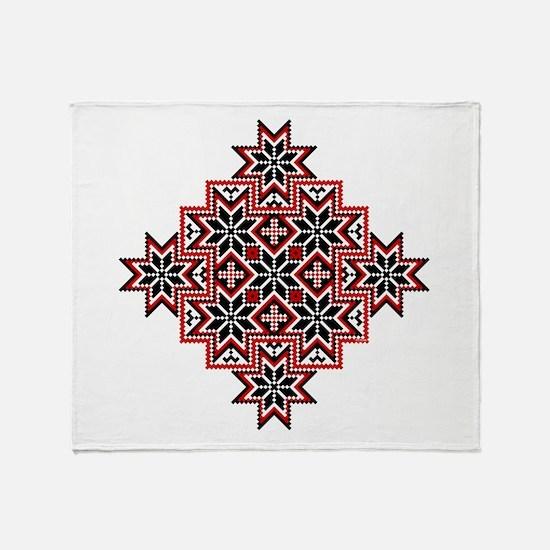 Folk Design 8 Throw Blanket