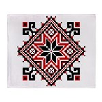 Folk Design 7 Throw Blanket