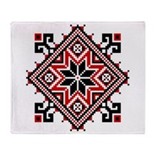 Folk Design 7 Throw Blanket