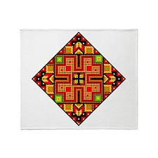 Folk Design 4 Throw Blanket