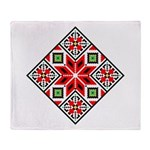 Folk Design 3 Throw Blanket