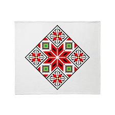 Folk Design 3 Throw Blanket