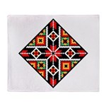 Folk Design 2 Throw Blanket