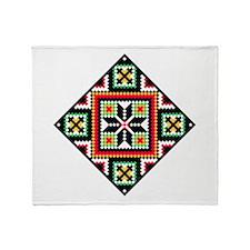 Folk Design 1 Throw Blanket