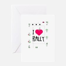 I <3 Rally Course Greeting Card