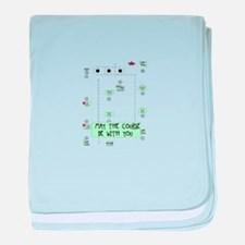 Rally Course baby blanket