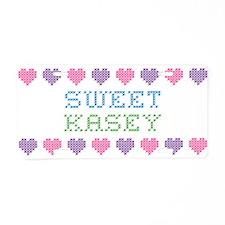 Sweet KASEY Aluminum License Plate
