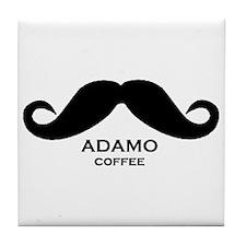 Cute Mustache coffee Tile Coaster