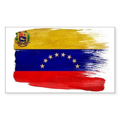 Venezuela Flag Sticker (Rectangle)