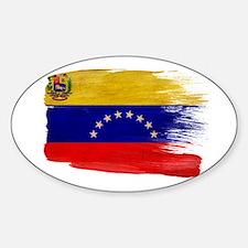 Venezuela Flag Sticker (Oval)