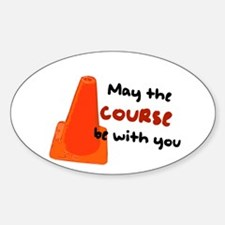 """Rally Cone """"Course Be With Yo Sticker (Oval 10 pk)"""