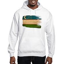 Uzbekistan Flag Hoodie