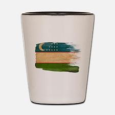 Uzbekistan Flag Shot Glass