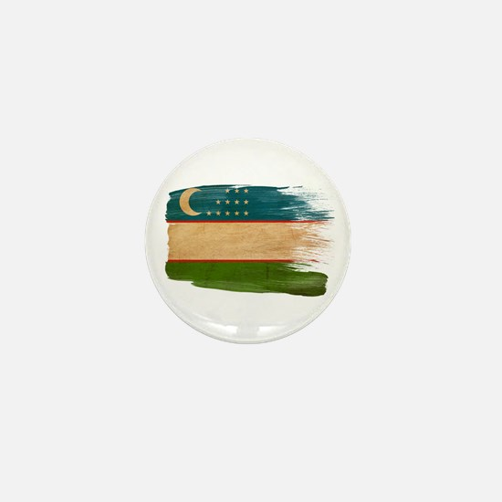 Uzbekistan Flag Mini Button