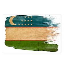 Uzbekistan Flag Postcards (Package of 8)