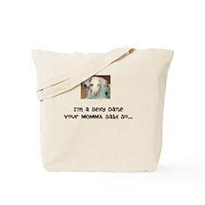 Cute Deaf dog Tote Bag