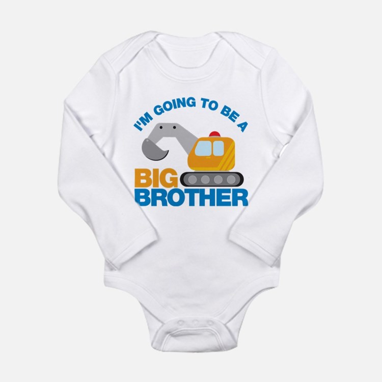 Excavator Going to be a Big Brother Baby Outfits