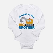 Excavator Going to be a Big Brother Long Sleeve In