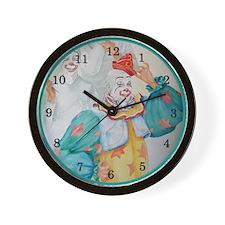 """Clown Getting Ready"" Wall Clock"