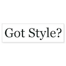 Got Style? Bumper Bumper Sticker