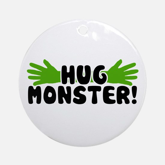 'Hug Monster' Ornament (Round)