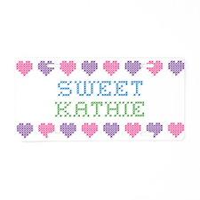 Sweet KATHIE Aluminum License Plate