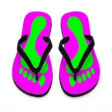 Green Feet Flip Flops
