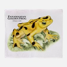 Panamanian Golden Frog Throw Blanket
