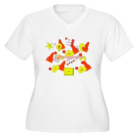Lots of Signs Women's Plus Size V-Neck T-Shirt