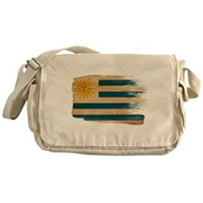 Uruguay Flag Messenger Bag