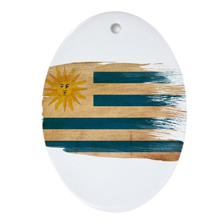 Uruguay Flag Ornament (Oval)