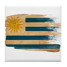 Uruguay Flag Tile Coaster