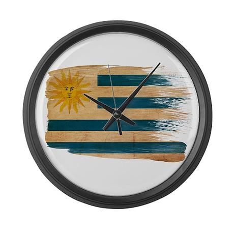 Uruguay Flag Large Wall Clock