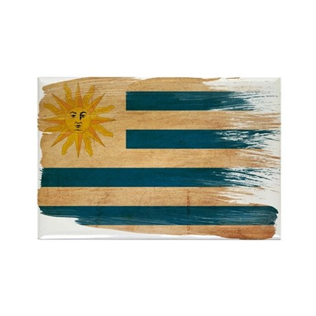 Uruguay Flag Rectangle Magnet