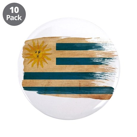 "Uruguay Flag 3.5"" Button (10 pack)"