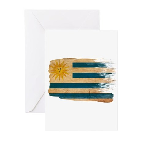 Uruguay Flag Greeting Cards (Pk of 10)