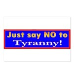 No to Tyranny Postcards (Package of 8)