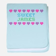 Sweet JAMES baby blanket