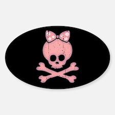 Molly Bow Dot -dist Sticker (Oval)