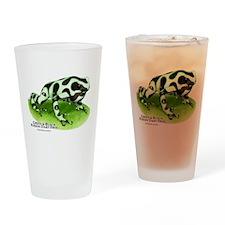 Green & Black Poison Dart Fro Drinking Glass
