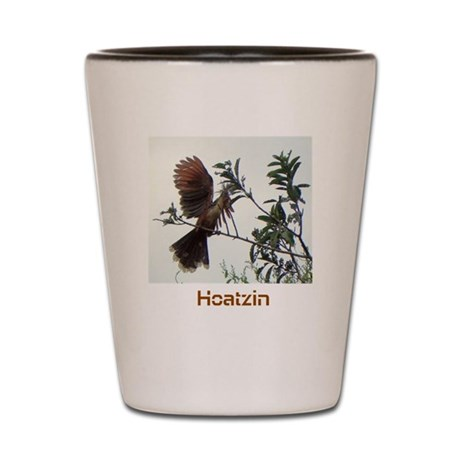 Hoatzin Bird Shot Glass